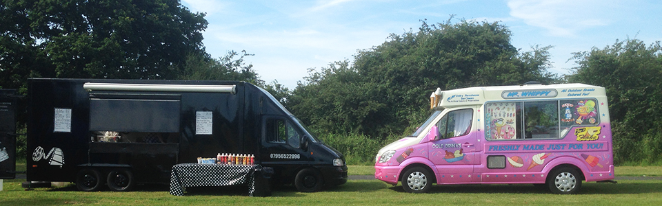 Outside catering and ice cream vans